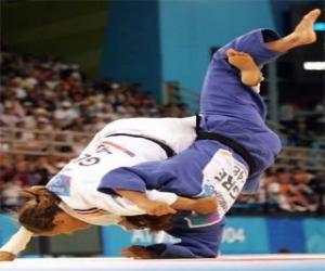 Puzle Judo - Dva jūdōkas cvičit