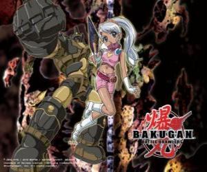 Puzle Julie a její Gorem Subterra Guardian Bakugan