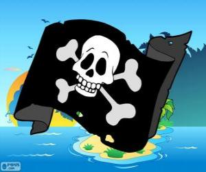 Puzle Junior pirátská vlajka