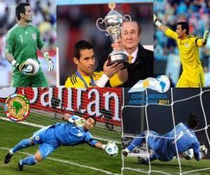 Puzle Justo Villar nejlepším brankářem Copa America 2011