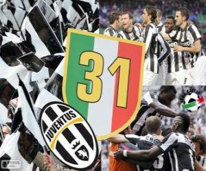 Puzle Juventus Turín, šampión Serie A Lega Calcio 2012-2013, italské fotbalové ligy