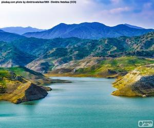 Puzle Kalavasos dam, Kypr