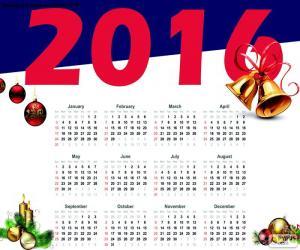 Puzle Kalendář 2016