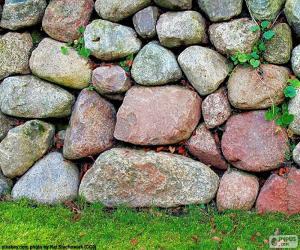 Puzle Kamenné zahradní zeď