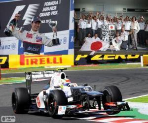 Puzle Kamui Kobayashi - Sauber - Grand Prix Japonska 2012, 3. klasifikované