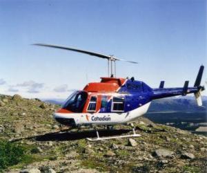 Puzle Kanadský vrtulníku Bell 206