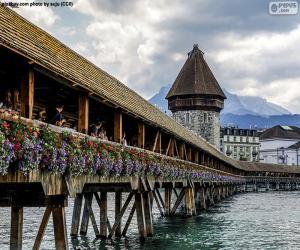 Puzle Kapellbrücke, Švýcarsko