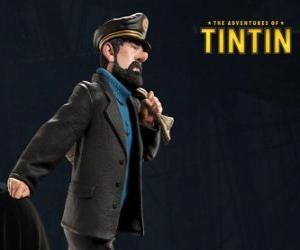 Puzle Kapitán Archibald Haddock je Tintin je nejlepší přítel