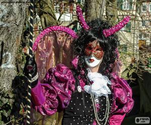 Puzle Karneval šaty růžové