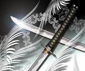 Puzle Katana je nejznámější zbraní z ninja a samuraj