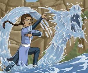 Puzle Katara je silný voda - mistryně, který doprovází Aang s jeho bratrem Sokka