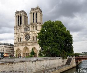 Puzle Katedrála Notre-Dame, Paříž
