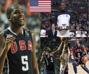 Puzle Kevin Durant nejužitečnějšího hráče ocenění v roce 2010 FIBA World Championship