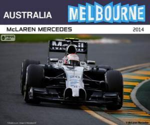 Puzle Kevin Magnussen - McLaren - Grand Prix Austrálie 2014, svírající klasifikované