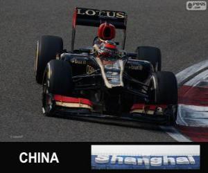 Puzle Kimi Räikkönen - Lotus - 2013 čínské Grand Prix, klasifikované 2.