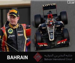 Puzle Kimi Räikkönen - Lotus - 2013 Grand Prix Bahrajnu, svírající klasifikované