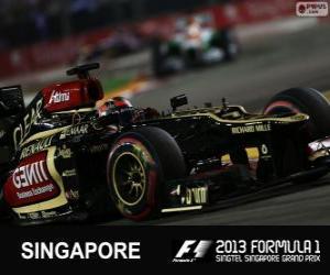 Puzle Kimi Räikkönen - Lotus - 2013 Grand Prix Singapuru, 3 klasifikované