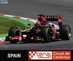 Puzle Kimi Räikkönen - Lotus - Grand Prix Španělska 2013, svírající klasifikované