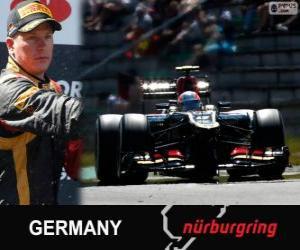 Puzle Kimi Räikkönen - Lotus - Grand Prix Německa 2013, 2 ° klasifikované