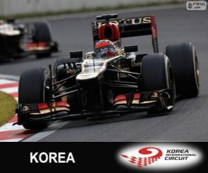 Puzle Kimi Räikkönen - Lotus - Grand Prix Koreje 2013, svírající klasifikované