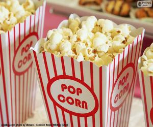 Puzle Kině popcorn