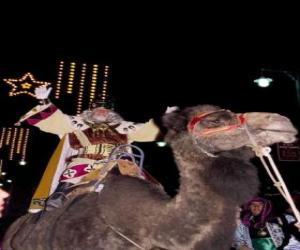 Puzle King Melchior jezdil na velbloudu