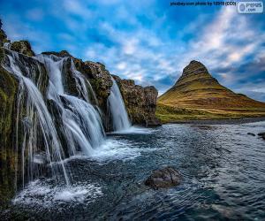 Puzle Kirkjufellsfoss, Island