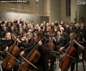 Puzle Klasický hudební orchestr