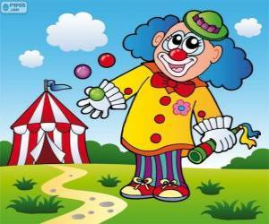 Puzle Klaun žonglér