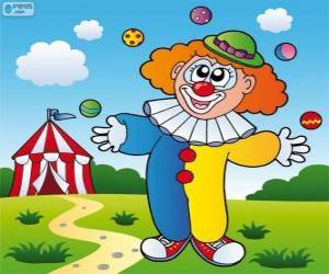 Puzle Klaun žonglování