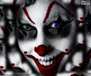 Puzle Klaun Halloween