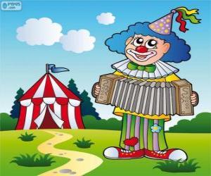Puzle Klaun hraje na akordeon