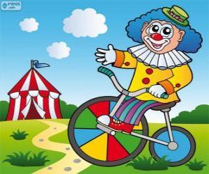 Puzle Klaun na kole