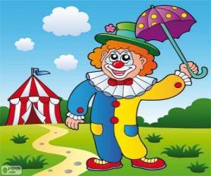 Puzle Klaun s deštníkem