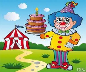 Puzle Klaun s dort výročí