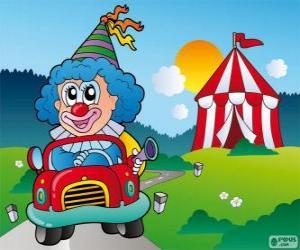 Puzle Klaun v autě