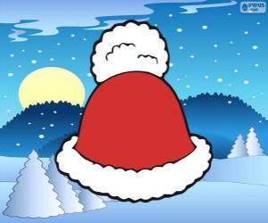 Puzle Klobouk s bílým střapcem Santa