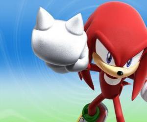 Puzle Knuckles Echidna, soupeř a přítel Sonic