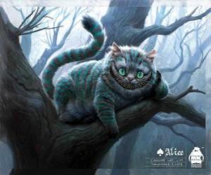 Puzle Kočka Šklíba odpočívá na větvi stromu
