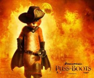 Puzle Kocour v botách, protagonista nového filmu DreamWorks