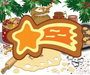 Puzle Koláček jako vánoční hvězda