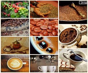 Puzle Koláž z kávy