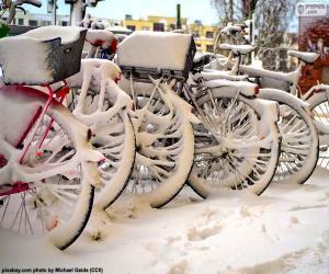 Puzle Kola v zimě