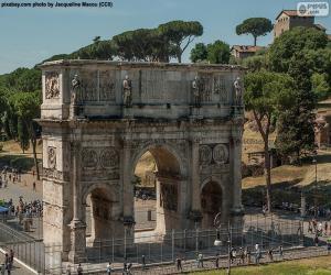 Puzle Konstantinsbogen, Řím
