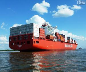 Puzle Kontejnerová loď