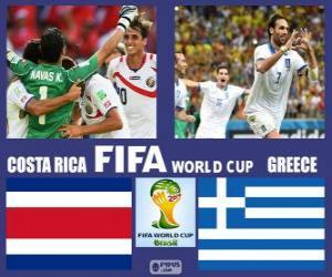 Puzle Kostarika - Řecko, osmé finále, Brazílie 2014