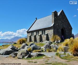 Puzle Kostel dobrého Pastýře, Nový Zéland
