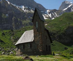 Puzle Kostel z vysoké hory, Švýcarsko