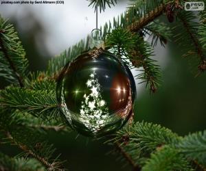 Puzle Koule vánoční stromeček