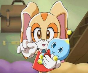 Puzle Králík s její Chao, sýr Bunny Cream
